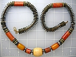 Amber Bone Ivory Sponge Coral 29 Inch Necklace