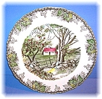 Click to view larger image of Johnson Bros England The Friendly Village Plate (Image1)
