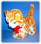 Click to view larger image of Orange and White STEIFF 'Lizzy' Cat Toy (Image1)