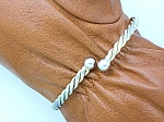 Silver Wrap Bracelet with Ball ends