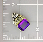 Click to view larger image of Sterling Silver Amethyst Pendant 8ct (Image1)