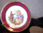 Click here to enlarge image and see more about item 06170226: Small Shadowbox miniature French Limoge  Plate