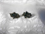 Click here to enlarge image and see more about item 06180206: 1950 HOLLYCRAFT Screwback Earrings.