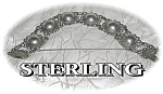 Click to view larger image of Bracelet Sterling Silver Antique Domes Links  (Image1)