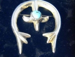Click to view larger image of Handmade Signed America Indian Brooch, Pendant (Image1)
