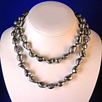 Necklace Grey Genuine Troca Pearls Handknotted