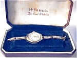 Click here to enlarge image and see more about item 06180302: Vintage European Gold Ladies Wind Up watch