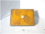 Click to view larger image of Antique English Burled Walnut Sewing Box. (Image1)