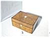Click to view larger image of Antique English Burled Walnut Sewing Box. (Image2)