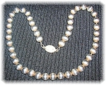 Necklace Sterling Silver 9mm Bead 18 Inch