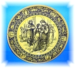 Click here to enlarge image and see more about item 06192006143: Beautiful Collectible Wedgewood Ivanhoe & Rowena Plate