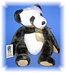 Click here to enlarge image and see more about item 06192006181: Green and White 5th Avenue FAO Swartz Teddy Bear