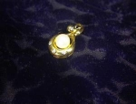 14K Gold Diamond 6mm Cultured Pearl Pendant