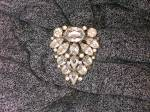 Click to view larger image of Dress Clip Foil Back Crystal 40s  (Image4)