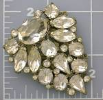 Click to view larger image of Dress Clip Foil Back Crystal 40s  (Image5)