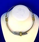 Necklace Sterling Silver  Brass Collar TE-25  Mexico
