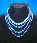 Click here to enlarge image and see more about item 06210258: Triple Row of Glass Faux Pearls JAPAN
