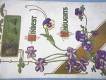 Click to view larger image of Pansies and Chrismas Bells Postcard 1910. (Image1)