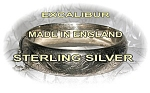 Click here to enlarge image and see more about item 06220242: Bracelet Sterling Silver Gold Vermeil Excalibur Bangle
