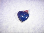 Sterling Silver Blue Lapis  Heart Shaped  Pendant.