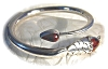 Click to view larger image of Snake Bracelet Sterling Silver Agate  TM-M7 Mexico (Image3)