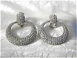 Fabulous Pave Crystal CINER Clip Earrings.