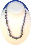 Click to view larger image of Necklace Faceted Amethyts Sterling Silver Bead  (Image1)