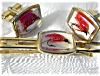 Click to view larger image of Fish ANSON Fly Fisherman Cuff Link & Tie Clip (Image3)