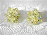 Clip Earrings canary yellow  Crystal Borealis