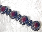 Click here to enlarge image and see more about item 0831200737: Silver 800 Cornelian Antique  Bracelet
