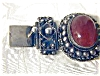 Click to view larger image of Silver 800 Cornelian Antique  Bracelet (Image3)