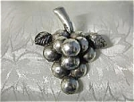 Signed ANA SOSA Mexican  Sterling Silver Grape Brooch