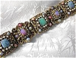 Fabulous Multi Glass Stone Vintage Wide Brace