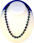 AUSTRIAN Faceted Blue Glass Necklace