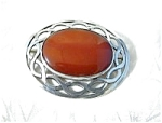 Sterling Silver Scottish & Cornelian Brooch