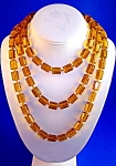 Flapper 57 Inch Long Golden Glass Beads