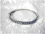 European Silver and Claw Set Crystal Bangle