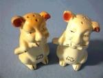 Click here to enlarge image and see more about item 06230216a: 2 Wonderful Old Little Piggy Salts.