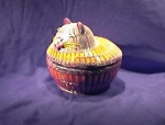 Click here to enlarge image and see more about item 06230225: Colorful Cat Basket.