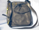 Handbag/Purse Large Black Leather FOSSIL