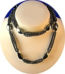 Hematite Bead Necklace, 3 strand
