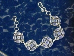 Click here to enlarge image and see more about item 06230266a: Bracelet Sterling Silver Amethyst Toggle
