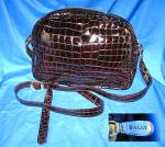 Bag BALLY Crocodile Look Leather Made Italy