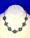 Blue Zircon Pearl and Sterling Silver Necklace