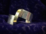 Click here to enlarge image and see more about item 06230282: Sterling Silver & Gold Designer Cuff Bracelet