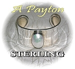 Click to view larger image of Sterling Silver & Genuin Mabe Pearl Cuff Brac (Image1)
