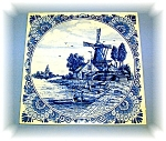 Click here to enlarge image and see more about item 06252006170: Handpainted Dutch Delft Tile, 5 3/4 x 5 7/8