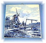 Click to view larger image of  Dutch Blue Delft Handpainted Tile, 5 3/4 x 5 7/8 (Image1)