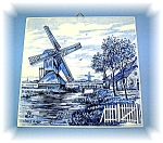Blue Delft Wall Tile, 5 3/4 x 5 7/8 Handpainted