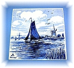 Dutch Delft Handpainted Wall Tile 5 3/4 x 5 7/8